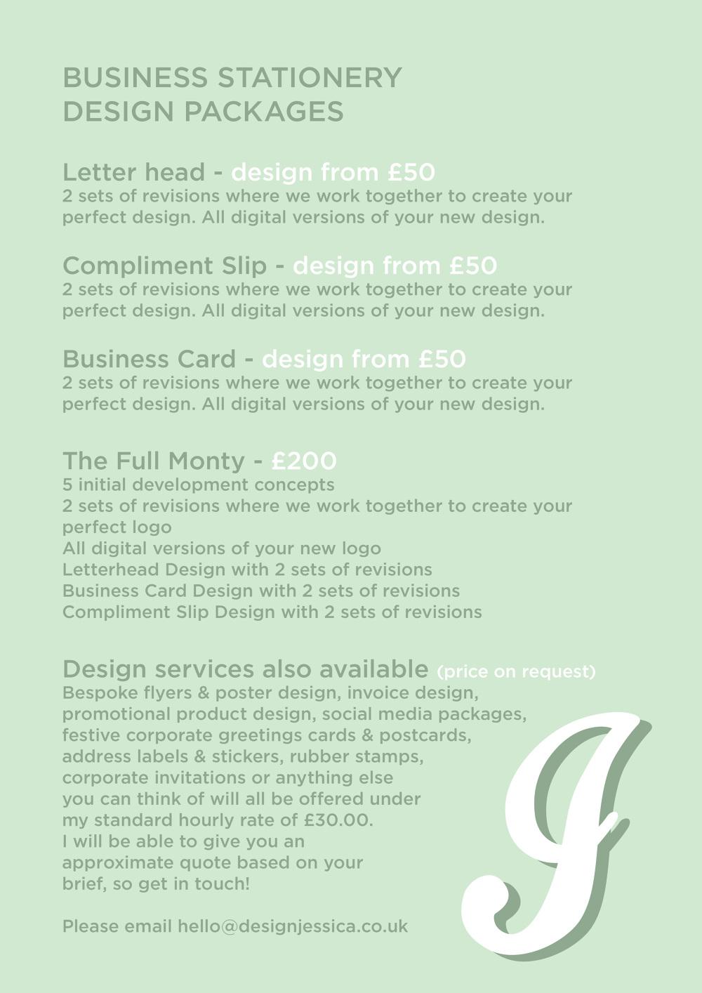 Business Cards, Comp Slips & Letterheads - designjessica - Freelance ...